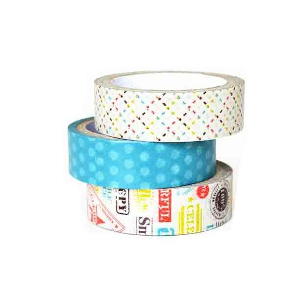 Printed Japanese Washi Masking Tape Waterproof Writable For DIY Decoration